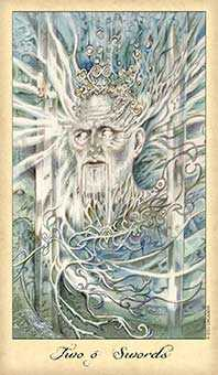 Two of Swords Tarot Card - Ghosts & Spirits Tarot Deck