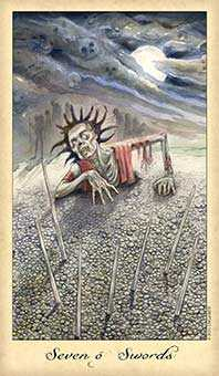 Seven of Swords Tarot Card - Ghosts & Spirits Tarot Deck