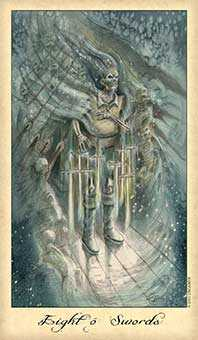 Eight of Bats Tarot Card - Ghosts & Spirits Tarot Deck