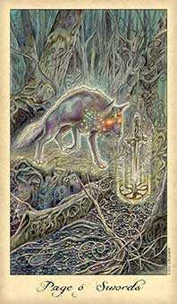 Page of Swords Tarot Card - Ghosts & Spirits Tarot Deck