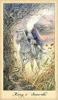 Roi of Swords Tarot Card - Ghosts & Spirits Tarot Deck