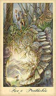 Ace of Discs Tarot Card - Ghosts & Spirits Tarot Deck