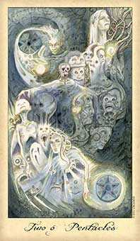 Two of Coins Tarot Card - Ghosts & Spirits Tarot Deck
