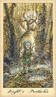 Eight of Discs Tarot Card - Ghosts & Spirits Tarot Deck