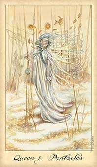 Queen of Coins Tarot Card - Ghosts & Spirits Tarot Deck