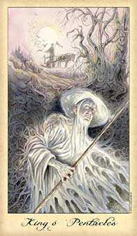 Shaman of Discs Tarot Card - Ghosts & Spirits Tarot Deck