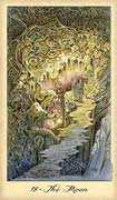 The Sun Tarot card in Ghosts & Spirits Tarot deck