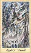Eight of Wands Tarot card in Ghosts & Spirits deck
