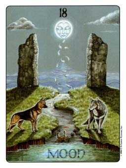 The Moon Tarot Card - Gill Tarot Deck