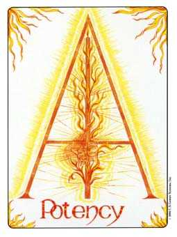 Ace of Lightening Tarot Card - Gill Tarot Deck