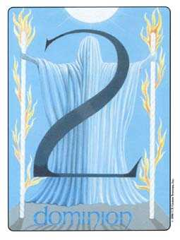 Two of Sceptres Tarot Card - Gill Tarot Deck