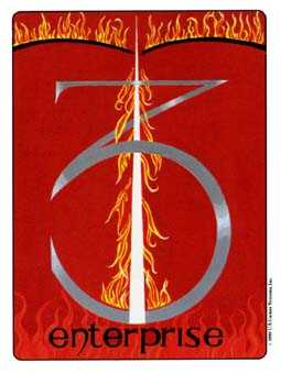 Three of Fire Tarot Card - Gill Tarot Deck