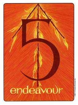 Five of Fire Tarot Card - Gill Tarot Deck