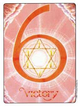 Six of Sceptres Tarot Card - Gill Tarot Deck