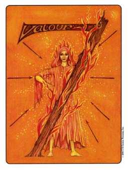 Seven of Staves Tarot Card - Gill Tarot Deck