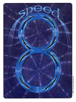 Eight of Rods Tarot Card - Gill Tarot Deck