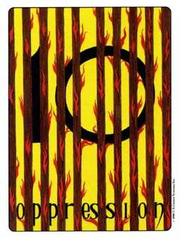 Ten of Batons Tarot Card - Gill Tarot Deck