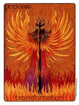 Daughter of Wands Tarot Card - Gill Tarot Deck