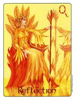 Queen of Rods Tarot Card - Gill Tarot Deck