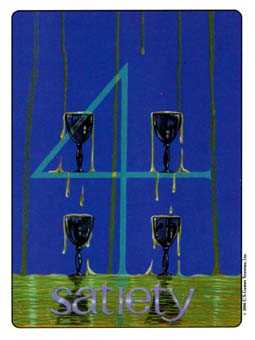 Four of Ghosts Tarot Card - Gill Tarot Deck