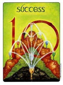 Ten of Hearts Tarot Card - Gill Tarot Deck