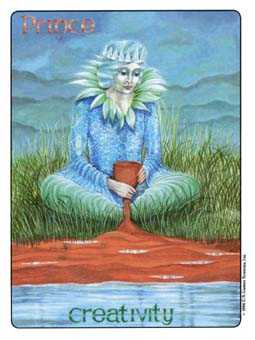 Water Warrior Tarot Card - Gill Tarot Deck