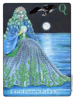 Queen of Bowls Tarot Card - Gill Tarot Deck