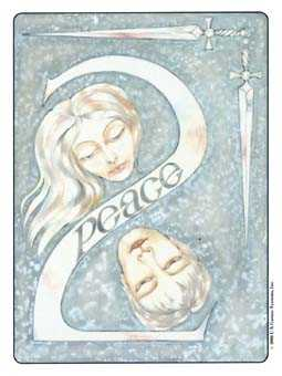 Two of Spades Tarot Card - Gill Tarot Deck
