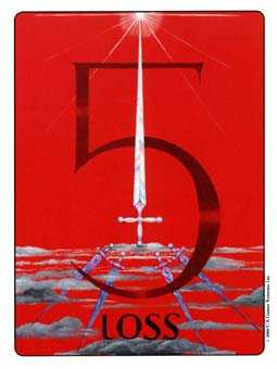 Five of Spades Tarot Card - Gill Tarot Deck