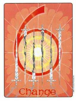 Six of Bats Tarot Card - Gill Tarot Deck