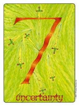 Seven of Bats Tarot Card - Gill Tarot Deck