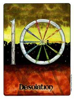 Ten of Arrows Tarot Card - Gill Tarot Deck