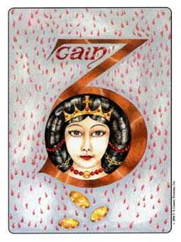 Three of Stones Tarot Card - Gill Tarot Deck