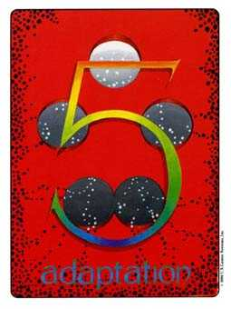 Five of Diamonds Tarot Card - Gill Tarot Deck