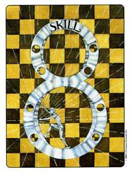 Eight of Coins Tarot Card - Gill Tarot Deck