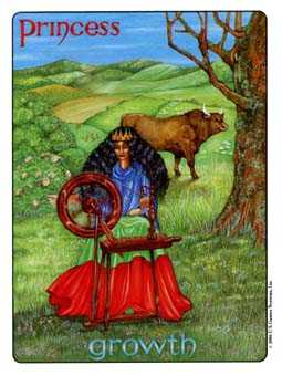 Daughter of Coins Tarot Card - Gill Tarot Deck