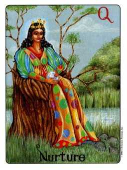 Queen of Buffalo Tarot Card - Gill Tarot Deck