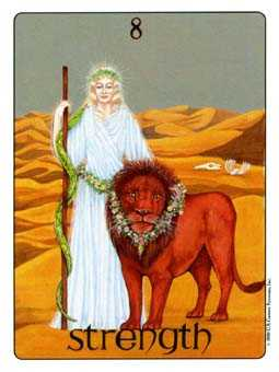 Strength Tarot Card - Gill Tarot Deck