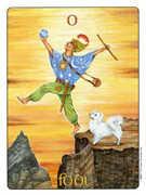 The Fool Tarot card in Gill deck