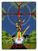 The Hanged Man Tarot card in Gill deck