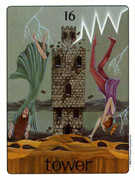 The Tower Tarot card in Gill deck