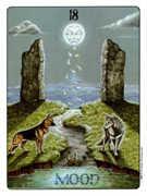 The Moon Tarot card in Gill deck