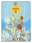 The Sun Tarot card in Gill deck