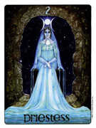 The High Priestess Tarot card in Gill deck