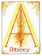 Ace of Wands Tarot card in Gill Tarot deck