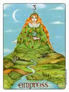 The Empress Tarot card in Gill deck
