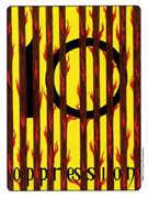 Ten of Wands Tarot card in Gill deck