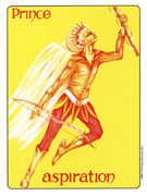 Knight of Wands Tarot card in Gill deck