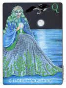 Queen of Cups Tarot card in Gill deck