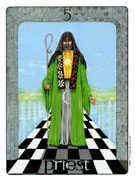 The Hierophant Tarot card in Gill Tarot deck